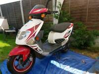 Pgo T-Rex 50cc scooter moped 1yrs MOT Free local delivery