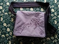 Lassig (Laessig) changing bag, purple, good used condition
