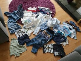 Baby boys bundle of clothes 0-3months