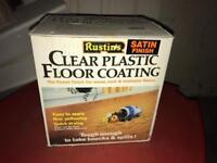 Rustins clear plastic floor coating