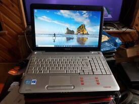 toshiba satellite l500 windows 10 500g hard drive 6g memory intel core i3 2.13ghz webcam