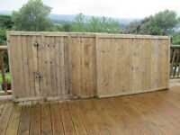 Timber Fence Panels 6'x4' 4 off. Used, but cleaned up & ready for use.