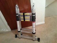 3.8m A Frame Multi Purpose Folding Telescopic Ladder Steps