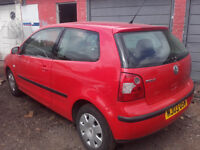 VW POLO 1.2L MANUAL PETROL HATCHBACK 2003 RED 100K MILES **IDEAL FIRST CAR**