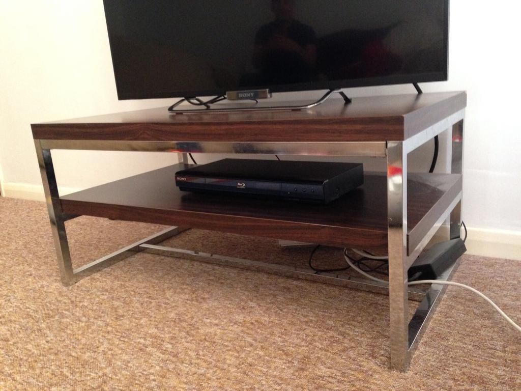 Dark Wood Chrome Tv Stand Coffee Table In Sevenoaks Kent Gumtree