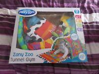 Playgro Zany zoo tunnel gym