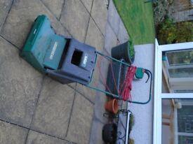 Electric Lawn Scarifier & Strimmer