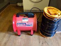 Sealey Portable Ventilator 200mm 180W