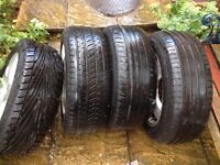 """x4 VW 16"""" Alloy Wheels and 205/55 Tyres (originally from a VW 2003 beetle)"""