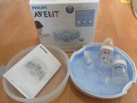 PHILIPS AVENT-MICROWAVE STEAMER AND BOTTLES