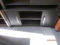 Brand New Black Ash Effect 2 Door Sideboard/TV Unit