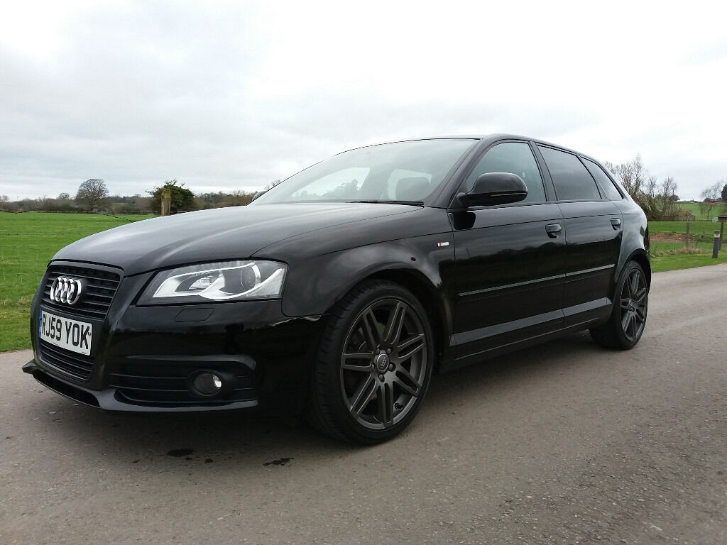 audi a3 2 0 tdi s line black edition s tronic 5dr 2010 1 owner fsh 12 months mot auto in. Black Bedroom Furniture Sets. Home Design Ideas