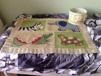 Free children's jungle ceiling shade and rug