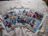 West Ham Footbal programmes- Over 300 from 1999 until 2015