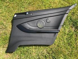 BMW F32 driver's side rear card (black leather