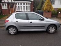 Peugeot 206 LX 1.4-low mileage - AC - 1 year MOT - top running cond