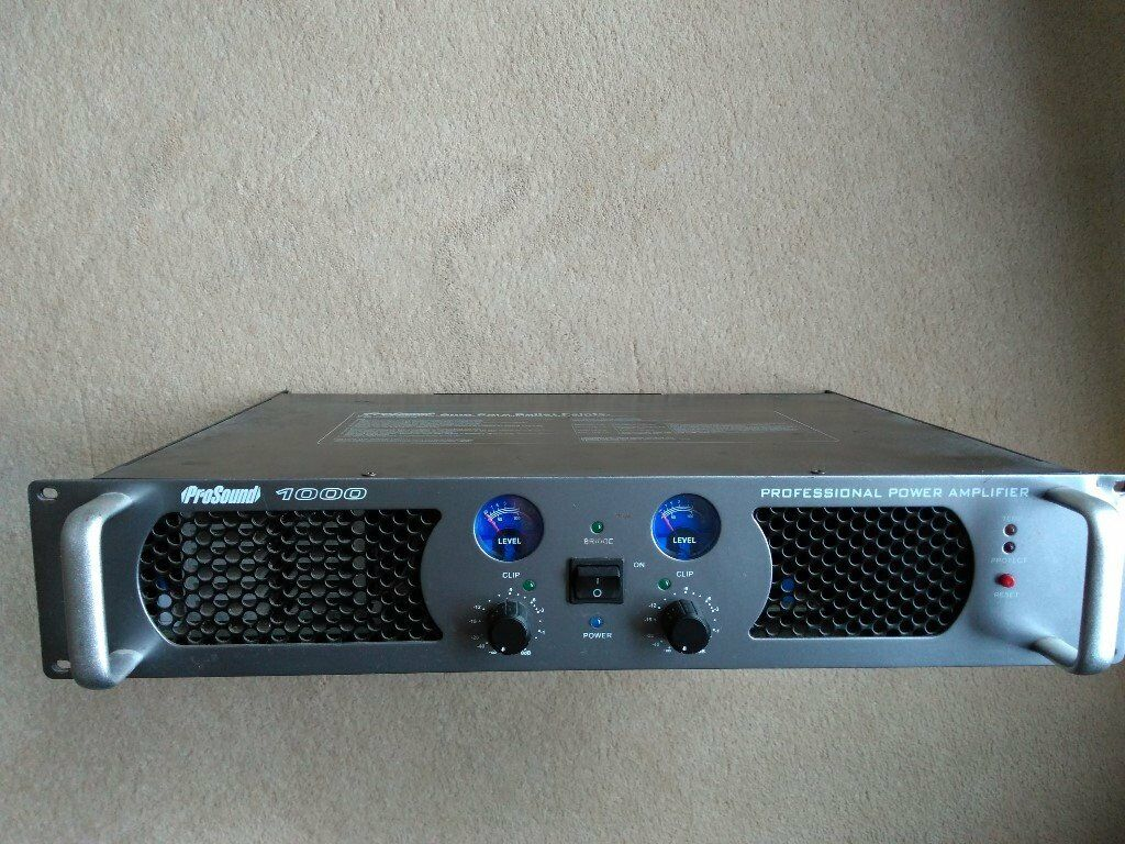 Prosound 100 Watt Stereo A94ru Class D Rack Unit Power Amp In High Quality Amplifier