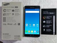 Samsung Galaxy Note 4, 3GB Ram, 32GB, Black, Unlocked, (Mint Condition)