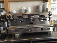 Good condition, fully working La Spaziale espresso machine, 3 head & 2 streamer heads.
