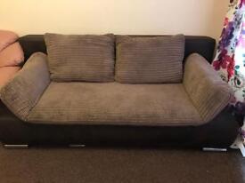 Brown/beige sofa bed
