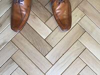 Beveled Oak Parquet Flooring Blocks Mat Oil Finish, size 16x70x280mm
