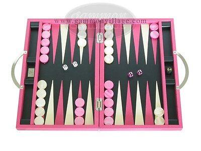 Zaza & Sacci Leather Backgammon Set - 15 1/4