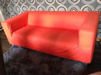 3 seater orange couch