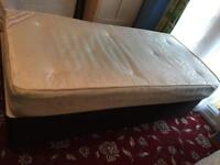 Single divan bed with mattress in excellent condition