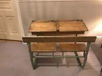 Antique School double open top desk