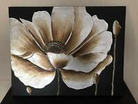 Beautiful large flower canvas