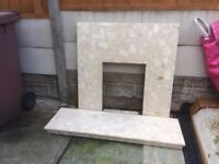 Conglomerate fire surround.