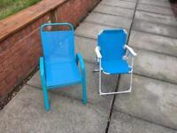2 kids outdoor seats