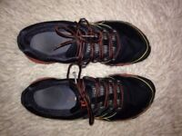 Merrell Trainers size 6 black and red
