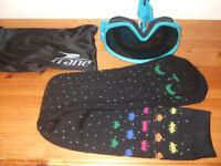1 Crane Ski Goggles ( used) 1 Pair Ski socks ( unused)