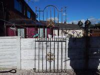 wrought iron gate / side gate / garden gate / driveway / house gate / metal gate / steel gate / tall