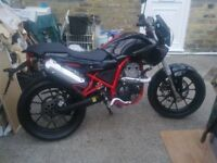 125cc motorbike,long mot fully serviced,mint bike ,ideal learner .first to see will definatly buy !!