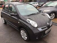 2008/08 NISSAN MICRA 1.2 16v ACENTA 5DR BLACK GREAT SPEC, AIR CON,LOOKS AND DRIVES WELL