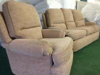 £65 Three seater sofa and chair in very good condition smoke and pet free poss del