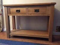Console table from Cargo, as new, cost £199, yours for £75