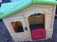 Little tykes house and slide