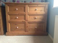 A lovely large chest of drawers