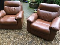 Real Leather Recliner Chair - Never Been Used