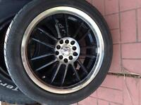"""17"""" multi fit rims with tires"""