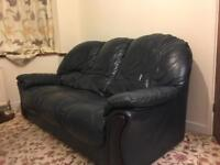 £100 - 3 person sofa plus 2 recliner chairs in same style