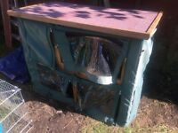 Rabbit hutch and cover only used for 2 months