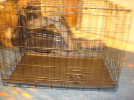 Dog Crate. For puppy to medium sized dog. Also Dog car carrier.