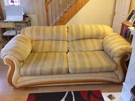 3 str , 2 str sofas and 2 x storage footstools - Bargain!