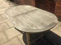 Teak Garden Table and Chairs Table Seats 6. Comes with 4 Chairs Very Well Made Solid Teak