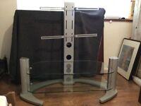 Stylish silver TV stand