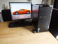 Wireless, windows 10 pro 64 bit, intel core i3 550 , full pc system, in excellent condition